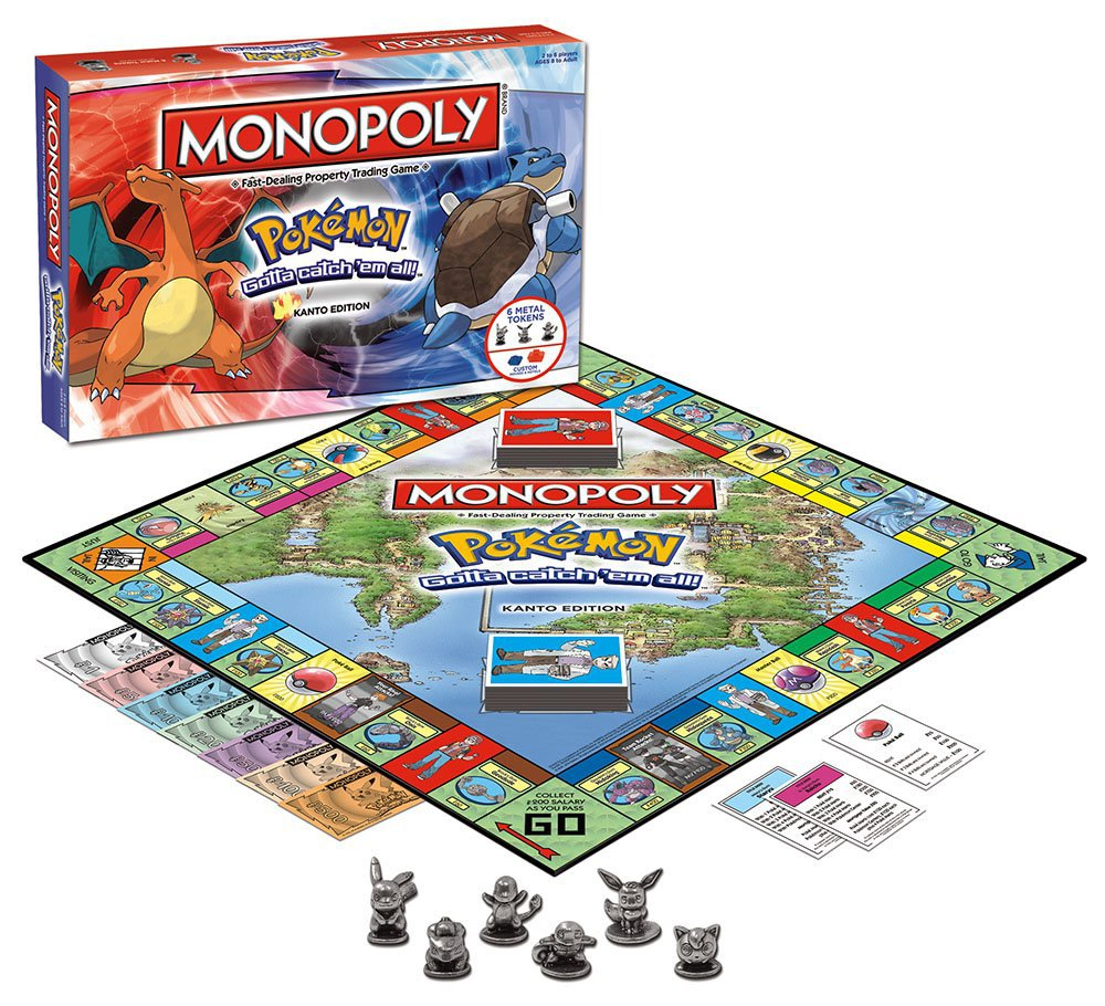 Board Game Monopoly Pokemon Board card game for kids children card Game Family gathering Birthday Christmas present