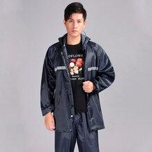 Men Rain Jacket Adults Split Raincoat Hiking Rainwear/rainsuit Reflective Strip At Night Rain Coat At Outdoor YY049