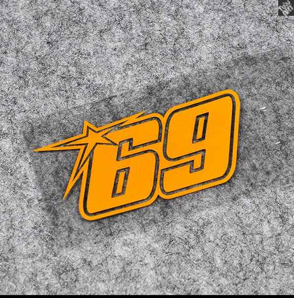 Nicky Hayden 69 amarelo etiqueta da motocicleta corridas de automobilismo adesivo de vinil decalques motocross equipe de corrida reflexivas automobiles