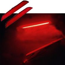 цена на 2Pcs Rear Red LED Side Marker Lamps Turn Signals Lights For Ford Mustang 10-14 U1JF