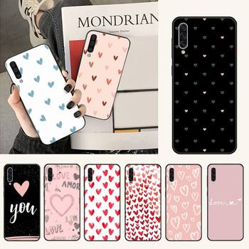 Cute Love Heart Soft Rubber Phone Cover For Samsung A20 A30 30s A40 A7 2018 J2 J7 prime J4 Plus S5 Note 9 10 Plus image