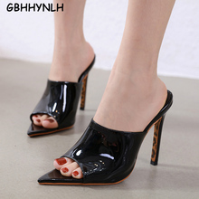 Купить с кэшбэком GBHHYNLH Sexy Womens High Heels Open Toe Trifle Slipper Sandals Summer Party Dress platform slippers Zapatos Mujer LJA797