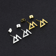 Small exquisite Hollow brushed triangle earrings Cute Transportation antler trend ladies jewelry Girl best gift