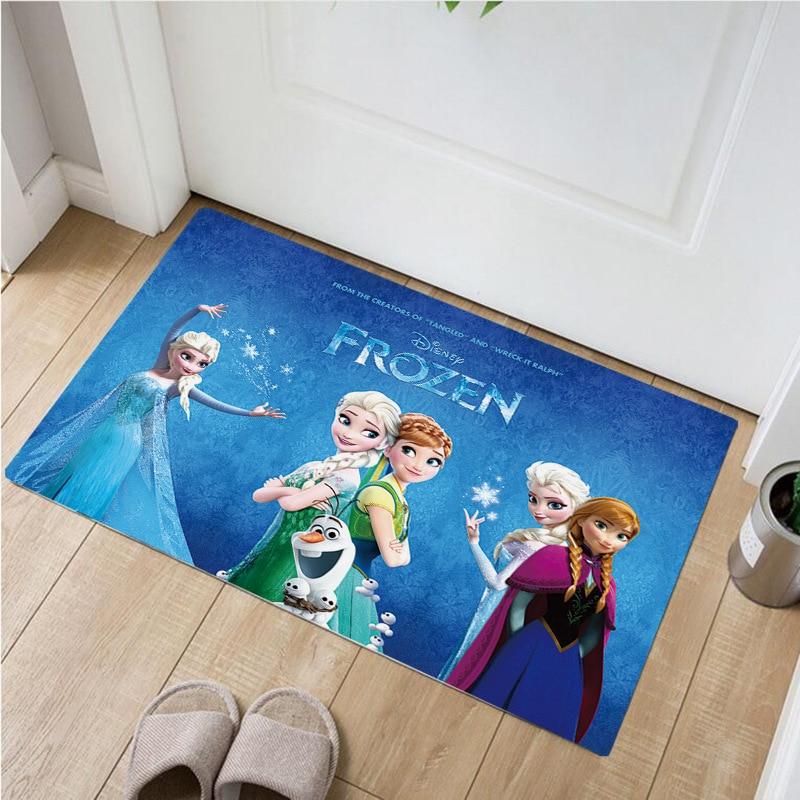 60x40cm Frozen Anna Elsa Kitchen Mat Entrance Door Mat Home Decor Living Room Carpet Bedroom Mattress Non-slip Mat