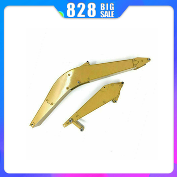 Upgrade Full Metal Big and Small Arm for HUINA 1550 RC Crawler Car 15CH 2.4G 1:14 RC Excavator Metal Arm Part Accessories