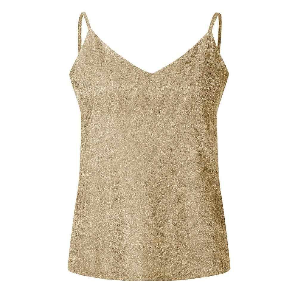 MIARHB топы на бретелях, укороченный Женский Бренд без рукавов, с блестками и ремешками, женская сексуальная блестящая майка, Свободная безрукавка, майка, женская летняя футболка