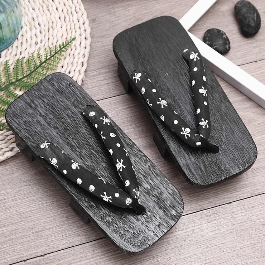 Unisex kobieta Paulownia drewniane japońskie tradycyjne Geta drewniaki człowiek Naruto Ninja Cosplay buty klapki sandały wyjściowe