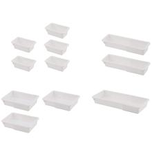 11 Pack rozszerzalne organizery szuflad plastikowa szufladka na kosmetyki pojemniki na organizery pojemniki na organizery taca na zastawę Stora tanie tanio CN (pochodzenie)