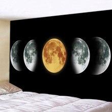 Большой круглый гобелен с Луной мандалы настенный пляжный коврик