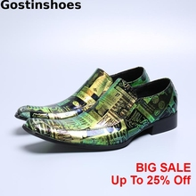 Newest Arrival Men Casual Leather Shoes Genuine Leather Printed Youth Shoes Pointed Toe Slip On Men Oxfords Shoes Leisure Shoes 2016 men business genuine leather daily leisure oxfords casual crocodile wedding casual flat leather oxford men shoes