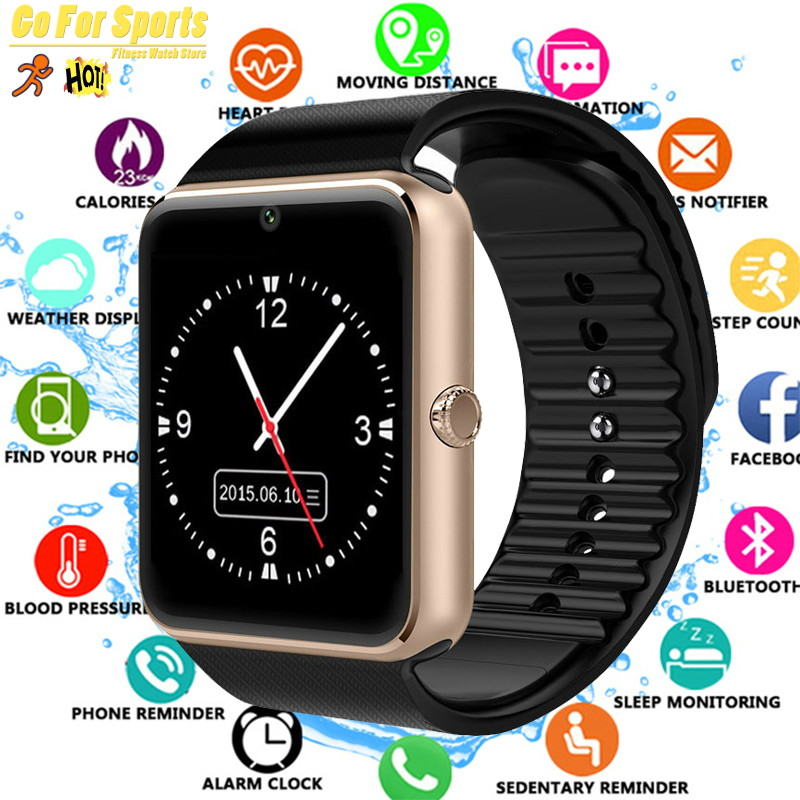 New 2019 Smart Watch Clock Sync Notifier Support SIM TF Card Connectivity Apple Iphone Android Phone Women Men Smartwatch GT08