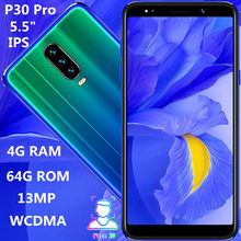P30 Pro quad core smartphones 4G RAM 64G ROM 5 5 #8243 IPS 13MP Face ID unlocked android mobile phones 2SIM cheap celulares cheap eaun Detachable 64GB Face Recognition Up To 48 Hours 2500 Adaptive Fast Charge Smart Phones Bluetooth 5 0 Capacitive Screen