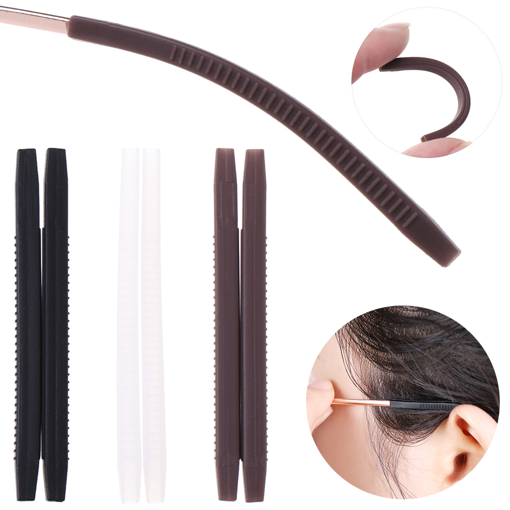 2020 5Pairs Glasses Anti-slip Cover Ear Hook Silicone Anti-Slip Holder For Sunglasses Eyeglass Leg Temple Tips Black/Brown/White
