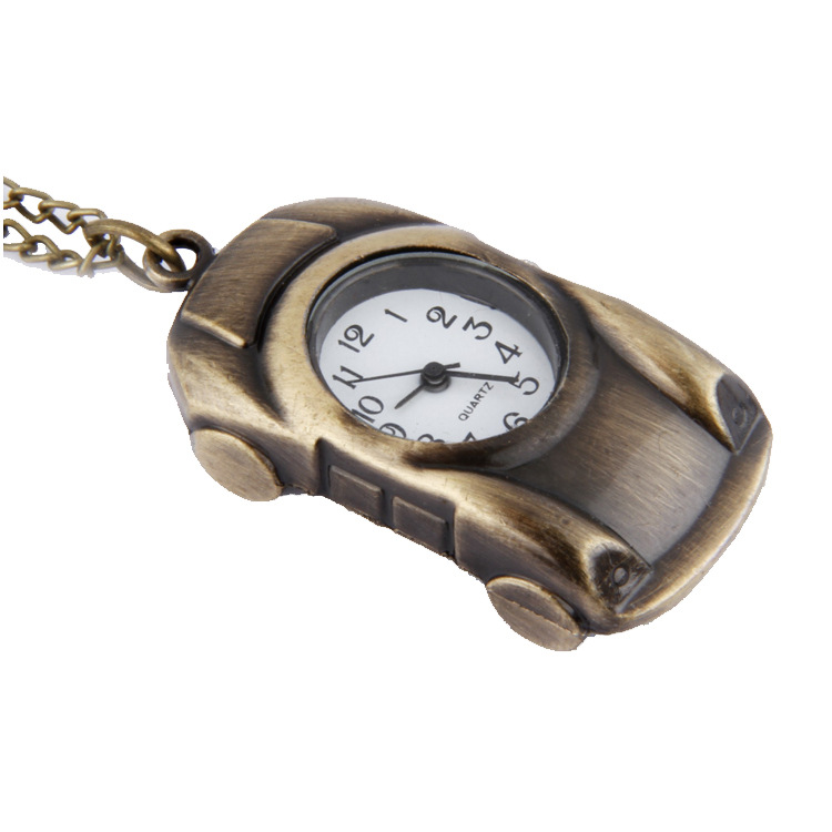Children Necklace Table Vintage Pocket Watch Wholesale Children's Watch Gift Watch Owl Key Chain Bronze Car Pocket Watch