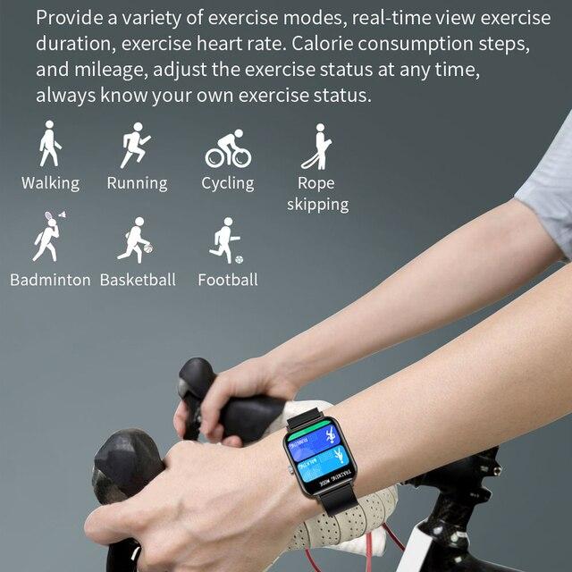 New CF82 Smart Watch Fitness Tracker 1.69 inch big screen IP67 Waterproof 2021 Sport Smartwatch women for Android IOS 4