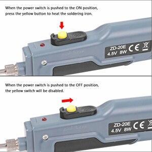 Image 4 - Handskit 4.5v 8w bateria alimentado ferro de solda com carga usb ferro de solda com fio de solda de carregamento sem fio