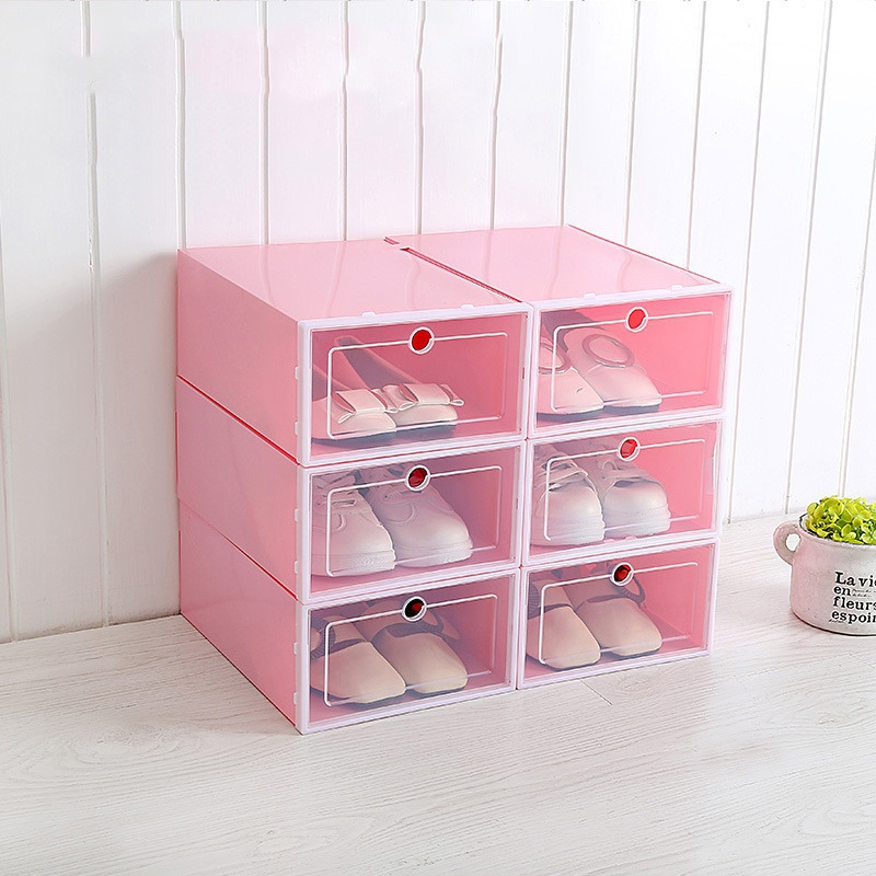 Foldable Shoe Box Organizer for Easy Storage of Shoes with Drawers 3