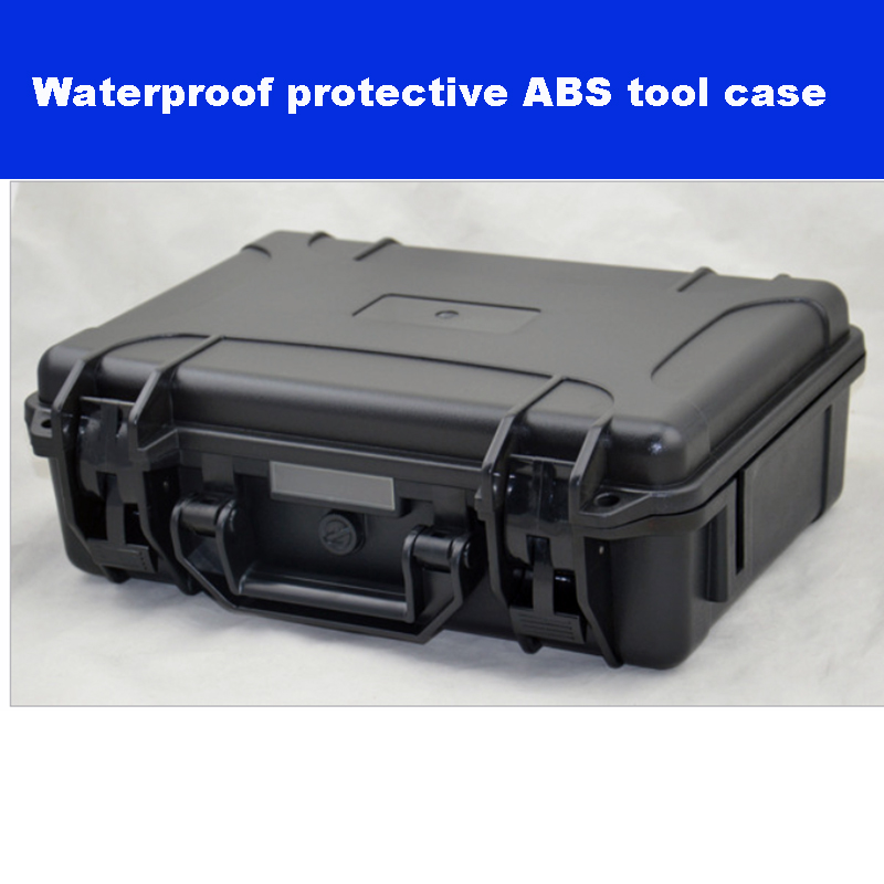 330-234-105mm ABS Tool Case Toolbox Impact Resistant Sealed Waterproof Safety Case Equipment Camera Case With Pre-cut Fo