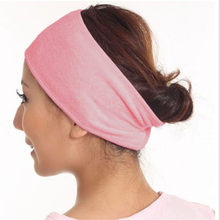 1PC Women Adjustable Makeup Toweling Hair Wrap Head Band Soft Adjustable Salon SPA Facial Headband solid Hair accessories 2019(China)