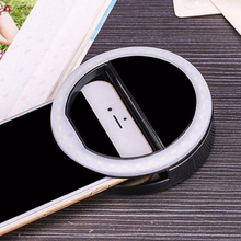 LED Ringlight Portable Flash Led Camera Clip-on phone Selfie ring light video Night Enhancing Lamp 2019 New
