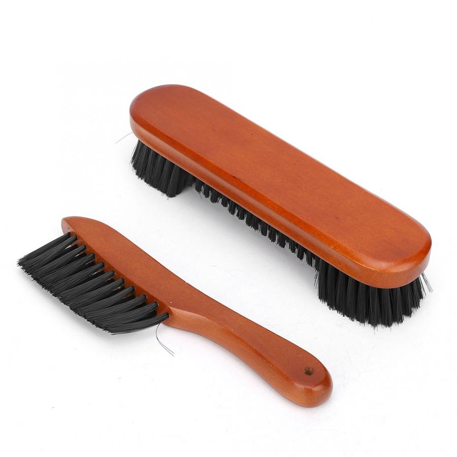 Pool Table Brush Cleaner Kit 2pcs Snooker Billiard Table Brush Rail Wood Handle Pool Table And Rail Brush Set Cleaning Tools Pool Billiards Accessories