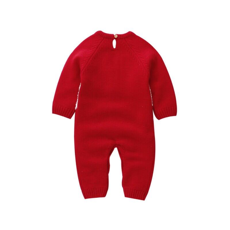 LOOZYKIT; Рождественский Шерстяной Вязаный комбинезон для маленьких девочек; цельнокроеный теплый зимний комбинезон с длинными рукавами для маленьких мальчиков; одежда