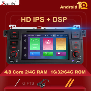 IPS DSP 8 Core 4GB RAM 1 Din Android 10 Car Radio For BMW E46 M3 Rover 75 Coupe 318/320/325/330/335 Navigation Multimedia Stereo(China)
