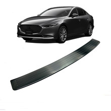 Stainless Steel Car Rear Door Guard Bumper Foot Scuff Plate Protective Cover For Mazda 3 2020 Accessories(China)