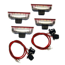 4Pcs Car LED Door Warning Light Welcome Projector for Golf 6 7 Jetta MK5 MK6 Passat B6 B7 CC TIGUAN Scirocco(China)