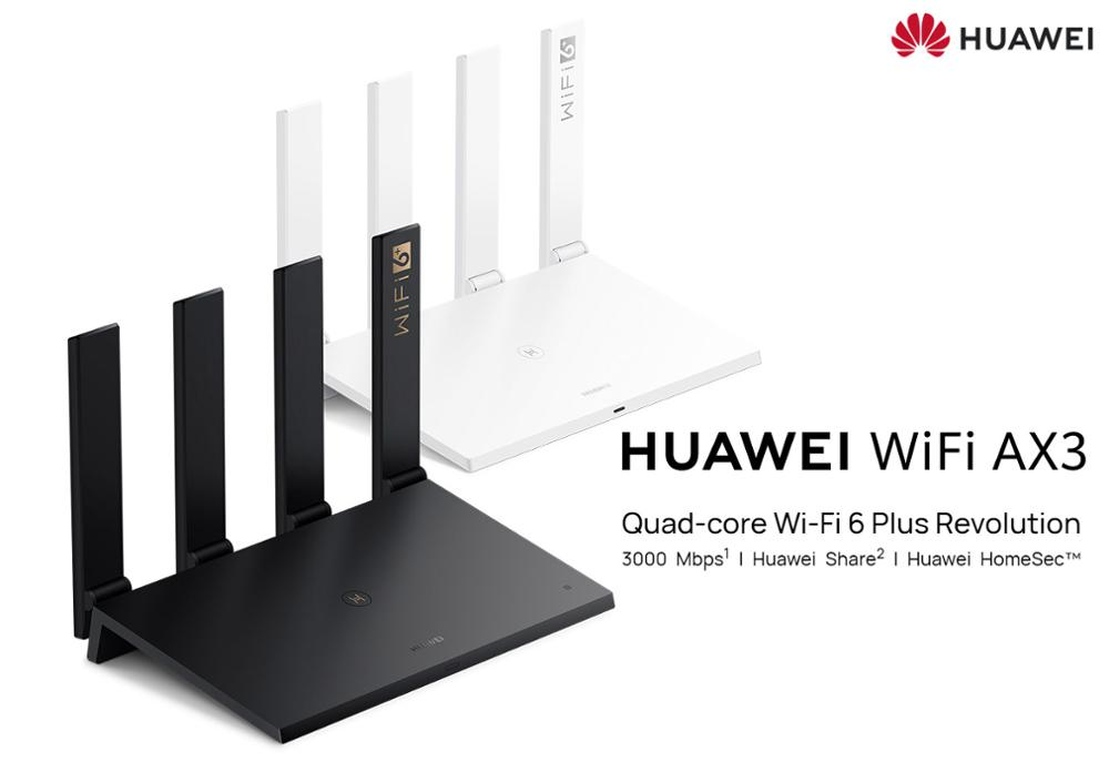 New Huawei WiFi AX3 Pro Quad-core Dual-core Router WiFi 6+ 3000Mbps 2.4GHz 5GHz Dual-Band Gigabit Rate WIFI Wireless Router
