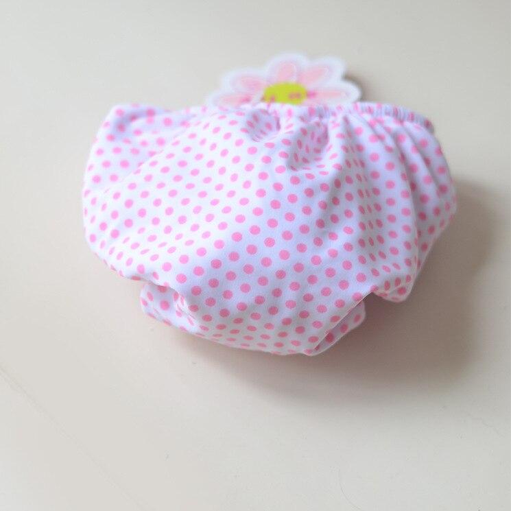 White Background Small Powder Point Velcro Children Diaper Pants Cute Men And Women Baby Infants Small Children Swimming Diaper