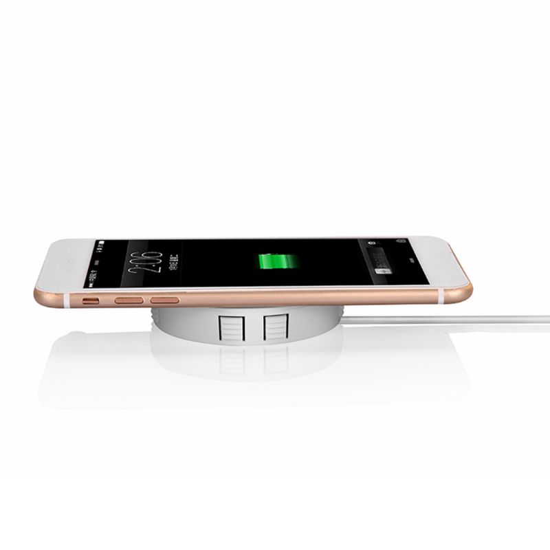 Universal Fast Wireless Charger QI Charging Furniture Desktop Hidden Embedded Table Pad for iPhone Samsung Cellphones Qi-enabled 5