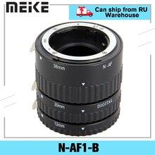 Meike N AF1 B Auto Focus Macro Extension Tube Set 12 20 36mm Adapter Ring For Nikon D3100 D5000 All DSLR AF AF S DX Camera Lens