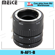 Meike N AF1 B otomatik odak makro uzatma tüpü seti 12 20 36mm adaptör halkası Nikon D3100 D5000 tüm DSLR AF AF S DX kamera Lens
