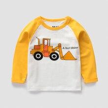Long Sleeve Excavator Cotton Sweatshirt Kids