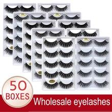 Wholesale Eyelashes 20/30/50 Boxes 5 Pairs 3D Mink Lashes Bulk Natural False Eyelashes Soft makeup Eye Lashes cilios g806 g800