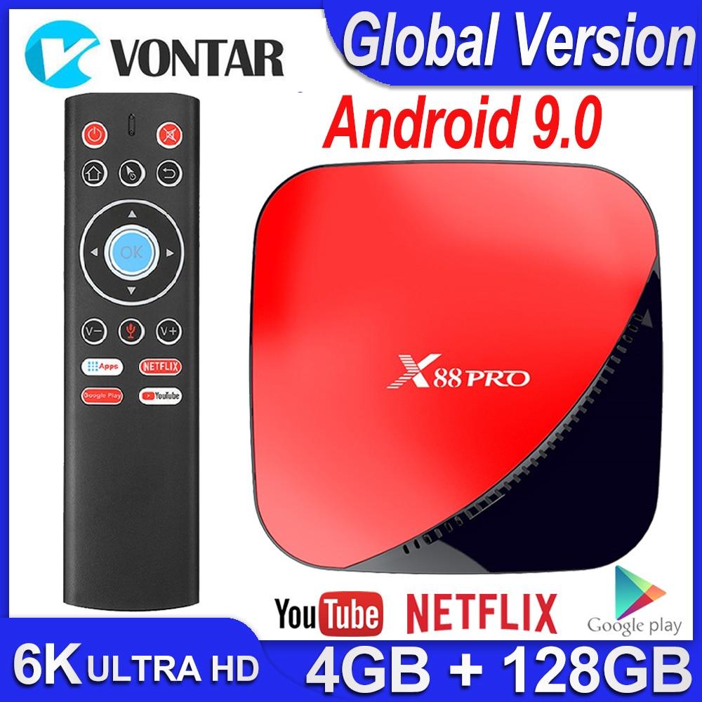 X88 Pro Smart TV Box Android 9.0 TV Box 4GB RAM 64G 128G MAX RK3318 USB3.0 H.265 Netflix Youtube Android TV Set Top Box 4K TVBox