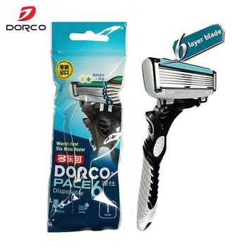 1pcs Dorco Razor Men 6-Layer Blades Razor for Men Shaving Stainless Steel Safety Razor Blades визитница razor лиловый