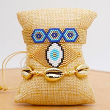 GRAPES MIYUKI Evil Eye Bracelet Gold Armband Pulseras Mujer 2020 Turkey Bracelets Handmade Women Gift Jewelry Tassel