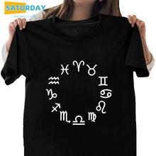 Женская футболка из 100% хлопка с надписью twelve созвездия