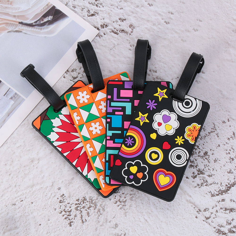 New Fashion Suitcase Color Pattern Luggage Tags Design ID Tag Luggage Label Address Holder Identifier Label Travel Accessories