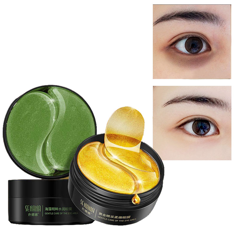 Ageless Eye Patches Collagen Anti Aging Against Wrinkles Dark Circles Gold Eyes Mask Bags Pads Hydrogel Sleeping Patch 60PCS MQ
