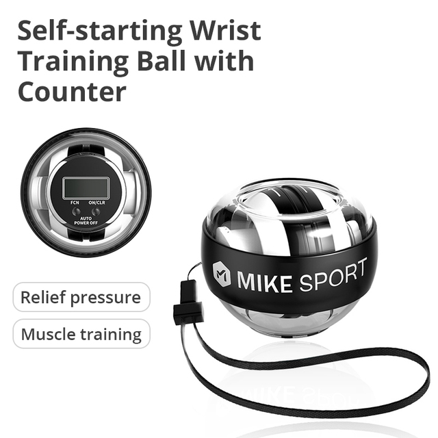 Self-start Wrist Traing Ball with Counter Gyroscope Muscle Trainer with Light Gyro Arm Exerciser Strengthener Wrist Power Ball 1