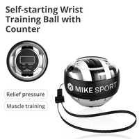 Bola de traing do pulso do auto-começo com treinador do músculo do giroscópio contrário com bola de energia do pulso do exercitador do braço do giroscópio da luz