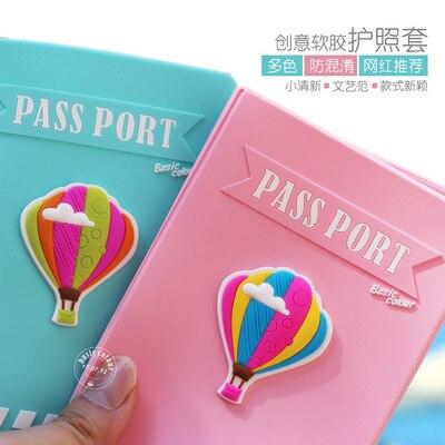 New Balloon Passport Covers Kawaii Pass Document Pink Silicon USA Passport Holder For Women Travel Accessories Russia