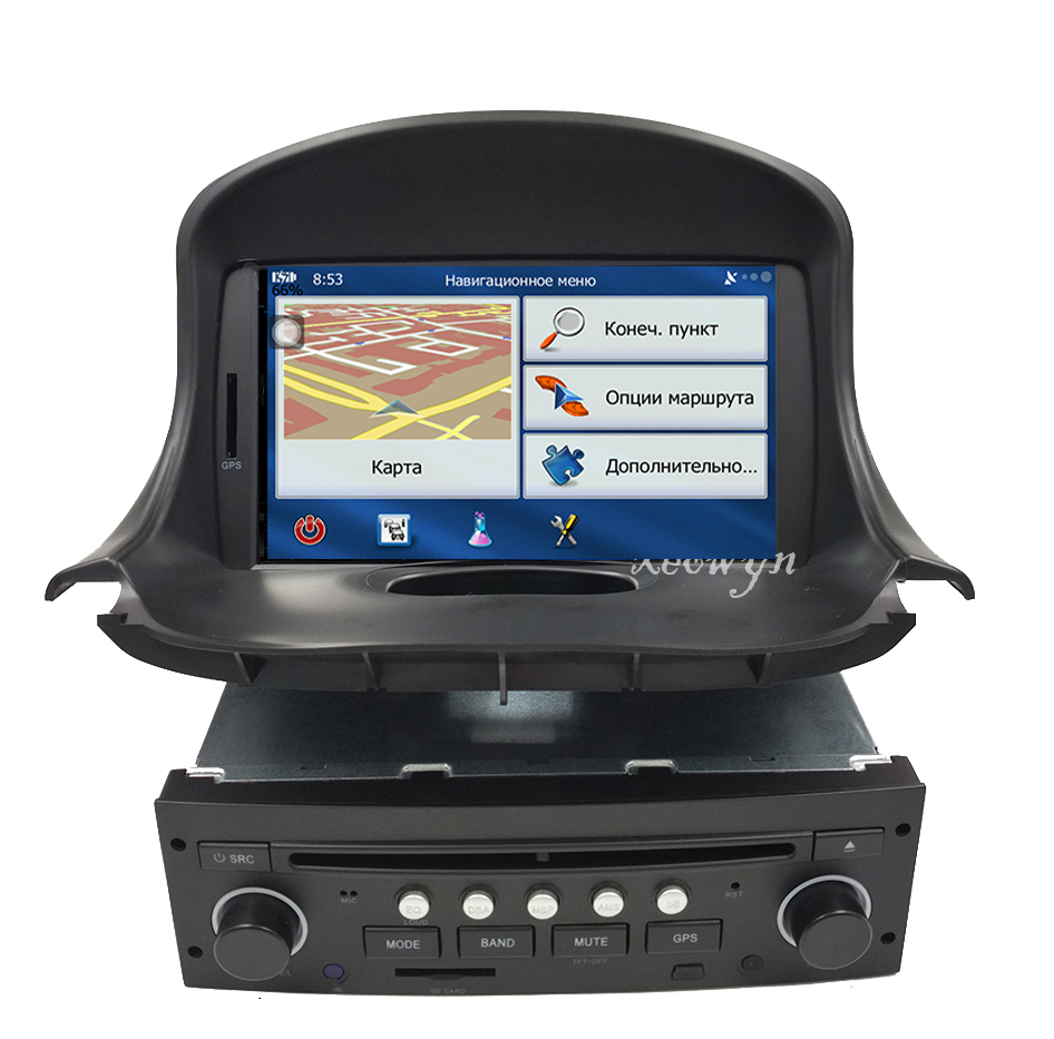 Quad Core Android 8.1 Car DVD GPS for <font><b>PEUGEOT</b></font> <font><b>206</b></font> 206cc Navigation,Bluetooth,Radio,IPOD,CAN-BUS,Stereo,head unit,Audio,Video image