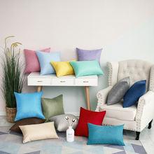 1 шт льняная наволочка 40*40 см для дивана украшение дома декор