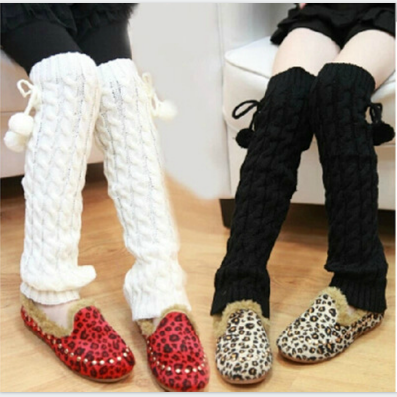 New Autumn Winter Girl Cotton Leg Warmer Leggings Knitted Cuffs Socks Girl Teen Kid Leg Warmers Baby Safety Children's Knee Pads