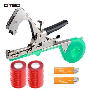 DTBD Tying Machine Set Plant Garden Plant Tape tool Tapener With Tape Set for Vegetable Grape Tomato Cucumber Pepper Flower