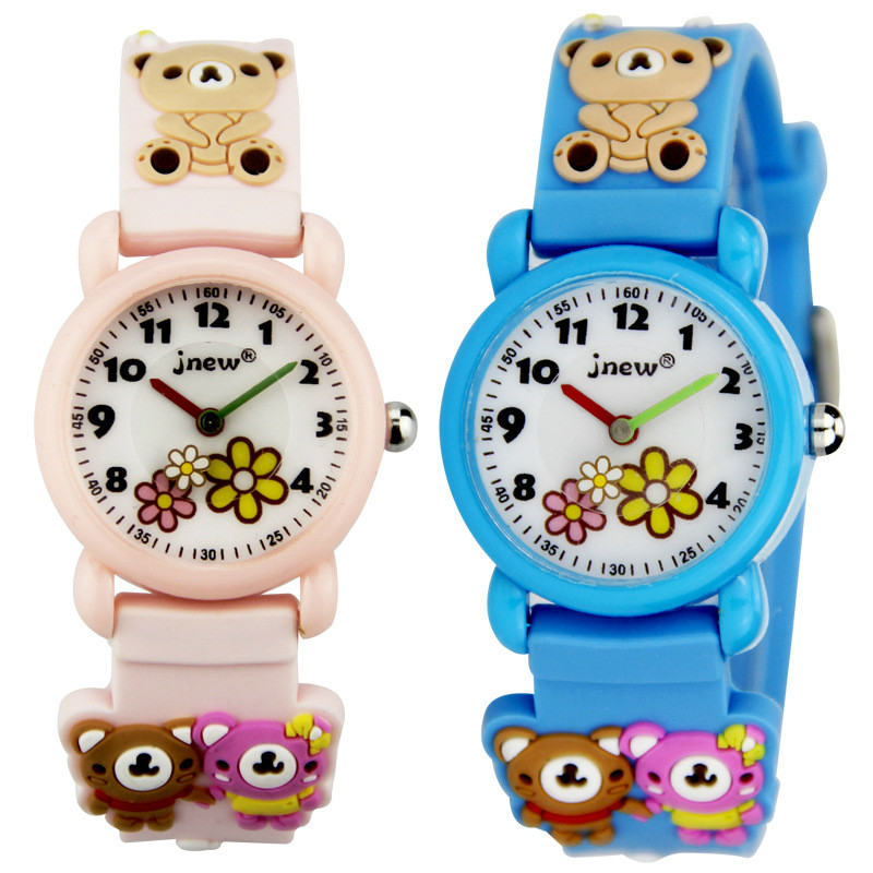 Little Bear Cute Cartoon Watch Silicone Jelly Waterproof Watch Girl Student Personality Children Watch